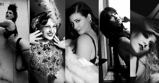 Tattoo Arts Convention Black Hearts Burlesque: Elektra Cute, Musette, Scarlette Revolver, Nadi A'marena, & Sassy von Straddler