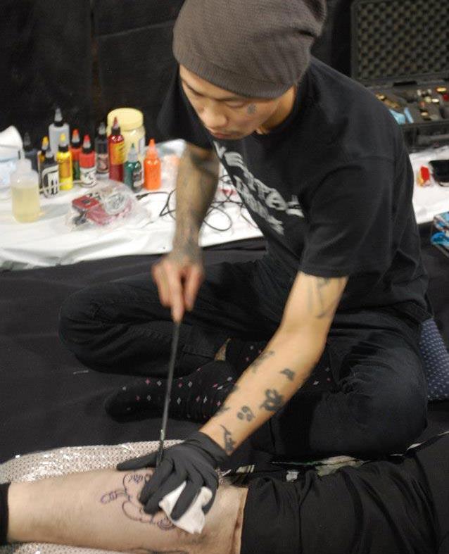 Tattoo Arts Convention Tebori Japanese Hand Poke Tattooing Takashi Matsuba