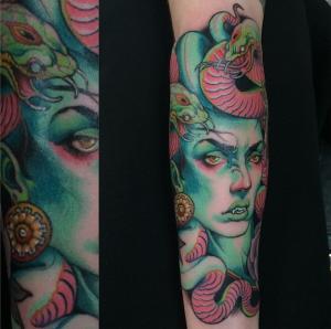 Artists vendors attending villain arts for David mccall tattoo
