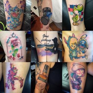 Aj pehowski villain arts for Tattoo convention 2017 denver